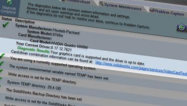 Bruker du riktig skjermkortdriver for SolidWorks?