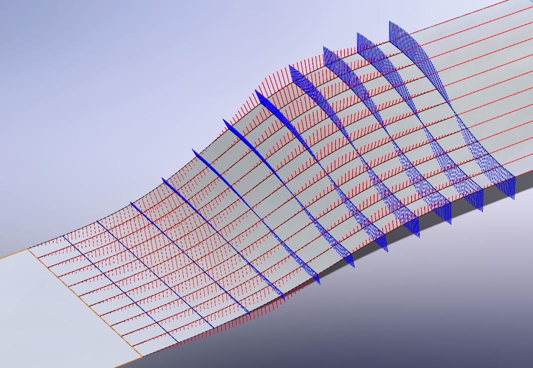 Surface Curvature Combs finner du i SOLIDWORKS 2015 og nyere under View > Display