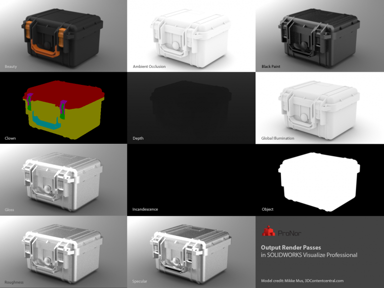 visualize render passes