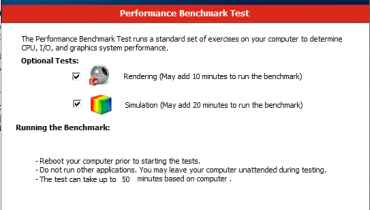 solidworks benchmark test