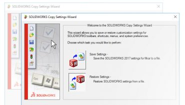 SOLIDWORKS Copy Settings Wizard