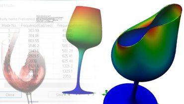 frekvens for å knuse glass solidworks simulation 001
