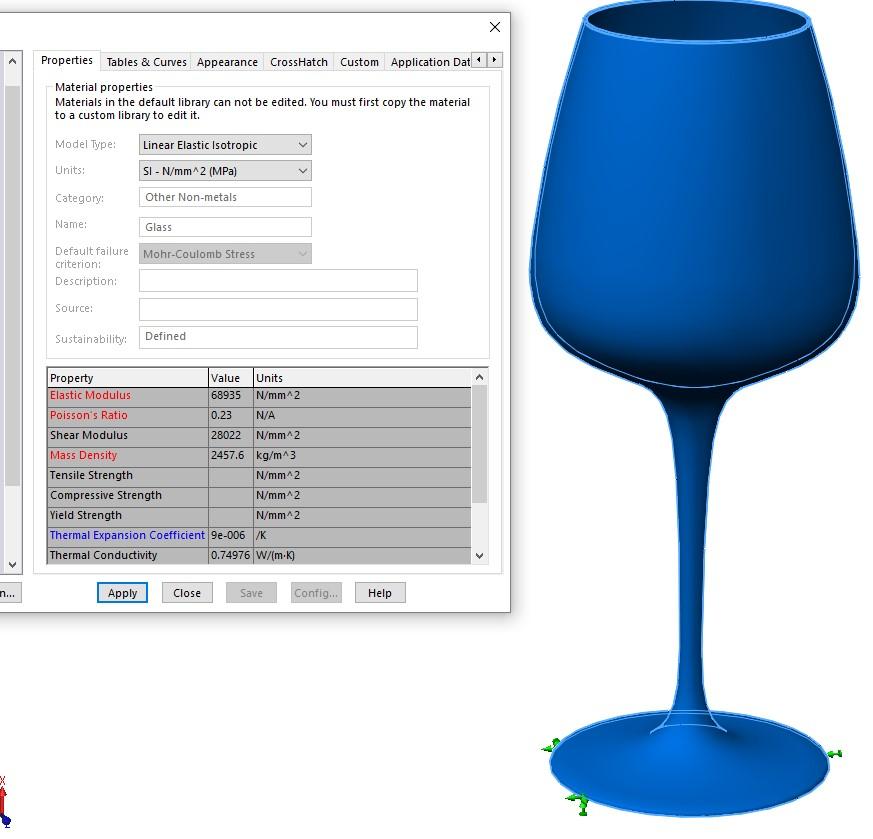 frekvens for å knuse glass solidworks simulation 04
