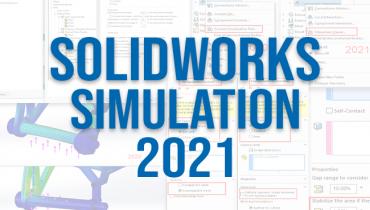 Oppdatert brukergrensesnitt i SOLIDWORKS Simulation 2021