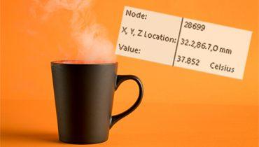 Hvor lang tid tar det før kaffen er kald? SOLIDWORKS Simulation studie